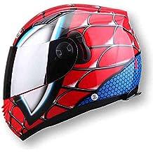 GWJNB Casco De Moto De La Cara Completa De Los Hombres Doble Lente Casco NENKI830 Spiderman