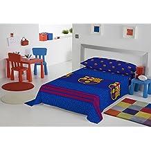 Juego de sábanas FC BARCELONA futs66 cama 105 (Encimera + Bajera + F. Almohada)