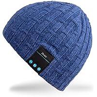 Rotibox- Bonnet Stereo Bluetooth - Bluetooth integrato Bonnet termica con auricolare stereo, microfono, a mano (Auricolari Mani Auricolare Kit Libero)