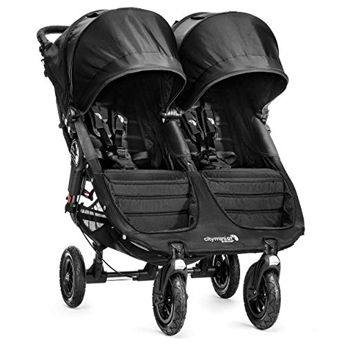 Baby Jogger City Mini GT Zwillingskinderwagen, Schwarz - Jogger Double City Mini