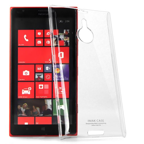 Heartly Imak Crystal Transparent Flip Thin Hard Bumper Back Case Cover For Nokia Lumia 520  available at amazon for Rs.349