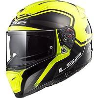 LS2 FF390 ROMPIADOR Negrita Bluetooth Listo (No Incluido) Doble Visera Casco de Moto de