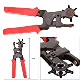 AllRight Hole Punch Pliers Heavy Duty Revolving Leather Punch Plier Tool Belt Punch 6 Sizes