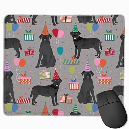Black Lab Birthday Party Dog Breed Labrador Retriever Grey_17843 Mouse pad Custom Gaming Mousepad Nonslip Rubber Backing 9.8