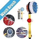 Maso, spazzole rotanti per la pulizia delle ruote, ad acqua, per auto, moto e cerchioni