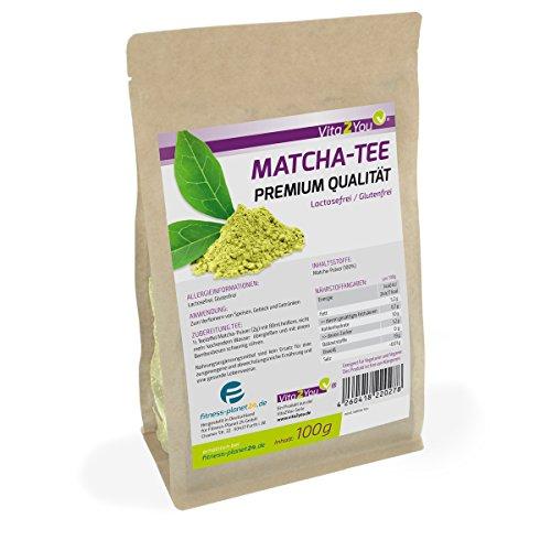 Matcha Tee 100g | Grüner Tee | Original Grüner Matcha | Matcha for Cooking | Matcha-Latte | Matcha-Smoothies | im wiederverschließbaren Zippbeutel | Premium Qualität