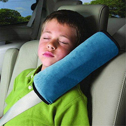 Preisvergleich Produktbild HENGSONG Schlafkissen Nackenstütze für Kinder Auto Baby Kind Sicherheitsgurt Autositz Kopfkissen Gürtel Pillow Schulterschutz (Blau)