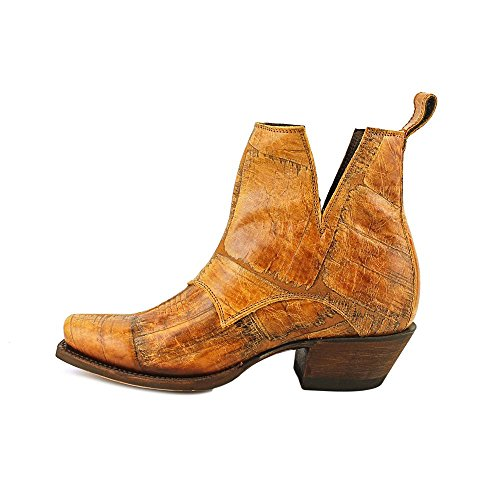 Nocona Dakota Bootie Cuir Santiags Tan Distressed