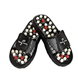 HomeCare Accupressure Men's Slippers for Pain Relief Black