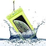 Power Theory wasserdichte Handyhülle - Wasserfeste Handytasche Handyschutz Cover Beutel Beachbag Tasche Handy Hülle Waterproof Case - iPhone X/XS 8 7 6s Samsung S10 S9 S8 S7 & viele mehr (Gelb)