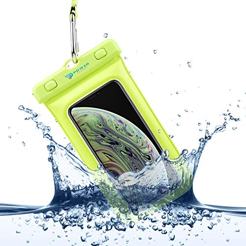 Power Theory wasserdichte Handyhülle - Wasserfeste Handytasche Handyschutz Cover Beutel Beachbag Tasche Handy Hülle Waterproof Case - iPhone X/XS 8 7 6s Samsung S10 S9 S8 S7 und viele mehr (Gelb) - Galaxy Samsung S3 Case Waterproof