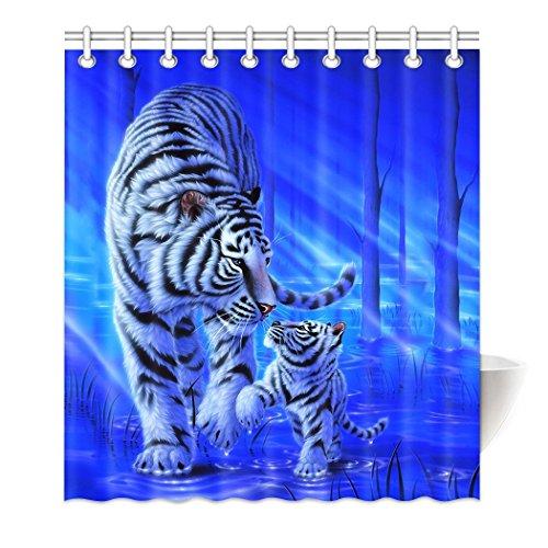 Qihua Design Badezimmer Home Dekoration Wasserdicht Polyester Stoff Vorhang für die Dusche 4 (Rail Liner)