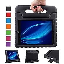 NEWSTYLE iPad Aire / iPad 5 Caso a prueba de golpes EVA portátil para niños con función de soporte de la cubierta del soporte para el iPad Aire / iPad Tablet 5, –negro