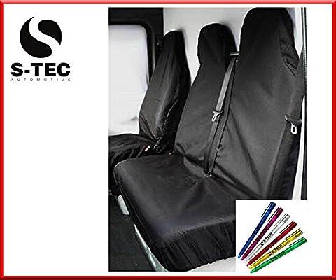 LDV CONVOY 96-05 REAR WHEEL DRIVE - S-tech Black Waterproof Van Seat Covers|Heavy Duty Durable| Attractive Design 2+1 | FREE S-TECH PEN