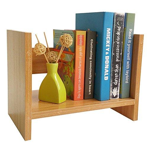 Make-up-Rahmen MEILING Teak Color Student Desk Einfach, Desktop Shelves Storage Bücherregal Platz,...