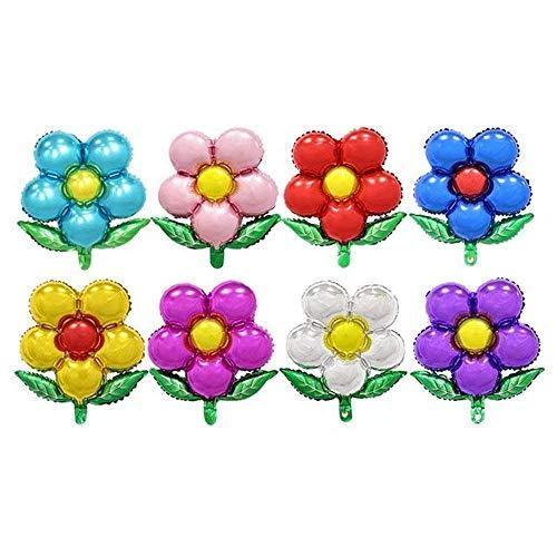 (Trixes 8er Pack Blumen Folien-Luftballons Bunte Blumenballons für Feste Feiern Geburtstage und Partys)