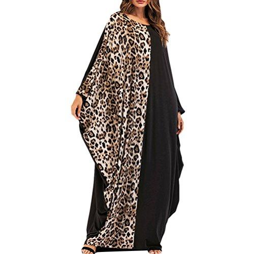 Zhuhaitf Mujer Moda Arabia Saudita Jalabiya Marroquí Malasio Abaya Bata Maxi Vestidos para Mujeres Dubai Talla Grande