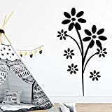 Zbzmm Wallsticker Home Bedroom Removable PVC Wall Stickers Creative Flower for Rooms DIY Home Decoration Wall Decals Waterproof Wallpaper 58 * 102Cm