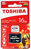 Toshiba Exceria M302 16GB Micro SDXC Memory Card 90 MB/s 4K for Action Cameras, with adapter