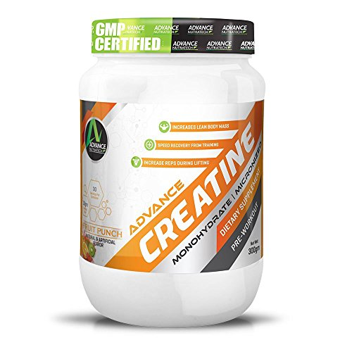 Advance Nutratech Creatine Monohydrate Flavored 300 Gm Fruit Punch With 30 Servings.