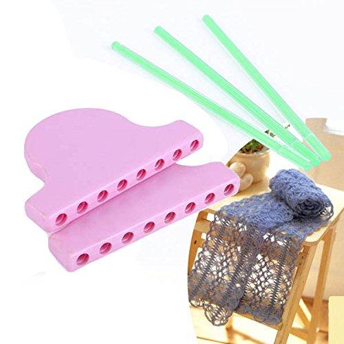 CHENXI Shop Schal Lace Strickgarn Loom DIY Stricken Arbeit Blume Schleife Quaste Weben Tools