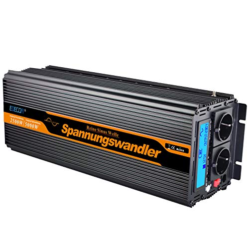 wechselrichter reiner sinus 2500 5000W spannungswandler 24V 230V LCD power inverter - 50hz Power Inverter