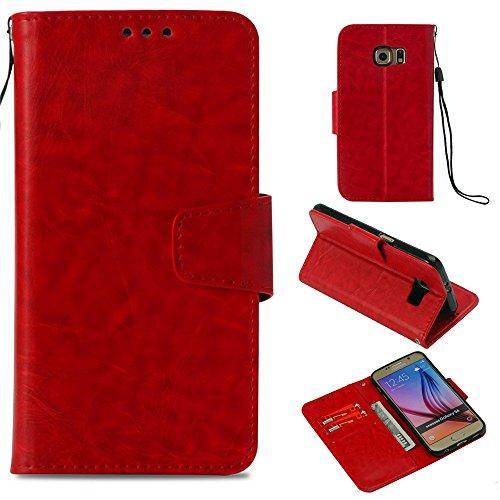 c2583a60c75 Lifeepro Samsung Galaxy S6 G9200 Funda, Samsung Galaxy S6 G9200 Wallet  Carcasa, [Soporte