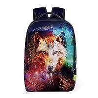 VENMO 3D Cartoon Animal Travel Backpack Rucksack with Side Pockets Zipper Lock College School Bag for Girls Boys