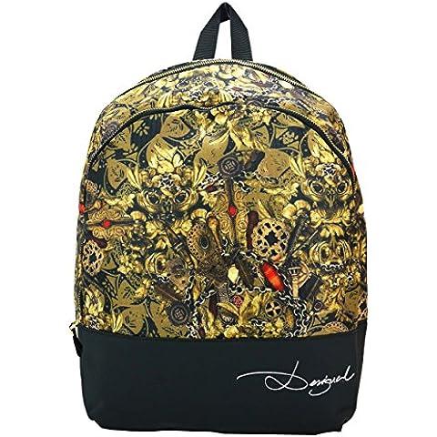 Desigual Backpack ciotole, oro, Taglia unica