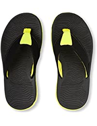 The Children's Place Boy's Black Flip-Flops and House Slippers