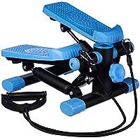 Relaxdays Stepper, verstellbarer Widerstand, mit Expander, Tacho und Schrittzähler HBT: 170 x 31 x 33 cm, schwarz-blau preisvergleich bei fajdalomcsillapitas.eu