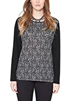 Triangle by s.Oliver Damen Langarmshirt 18.412.31.7764