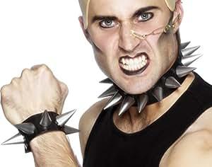 Smiffy's Punk Choker and Wristband Soft Rubber