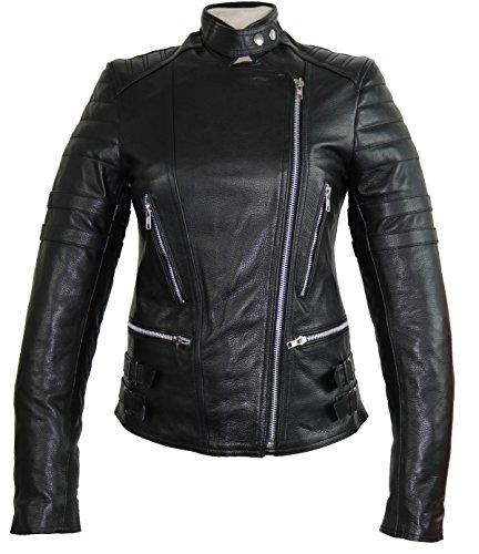 #Retro Damen Motorrad Biker Lederjcke (XL)#