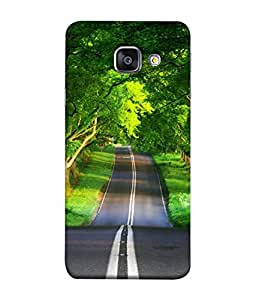 Fuson Designer Back Case Cover for Samsung Galaxy A7 (6) 2016 :: Samsung Galaxy A7 2016 Duos :: Samsung Galaxy A7 2016 A710F A710M A710Fd A7100 A710Y :: Samsung Galaxy A7 A710 2016 Edition (Long Lonely Road Trees Lined Road)
