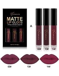 Rechoo 3 Stücke Sexy Beauty Matte Samt Lip Gloss Set Wasserdicht Langlebig Akt Tattoo Bleistift Lippenstift A