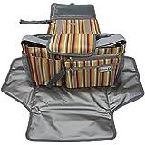 D-Jeesian Diaper Luxe Pad et Poussette Organizer Bag Kit de rangement supplémentaire,Station Changing Portable, Universal jaune