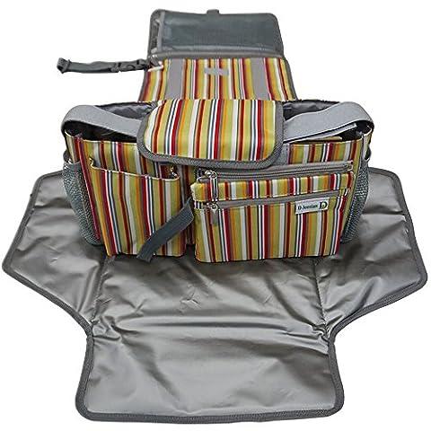 D-Jeesian Diaper Luxe Pad et Poussette Organizer Bag Kit de rangement supplémentaire,Station Changing Portable, Universal
