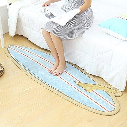 caracteristicas:Tamaño de alfombra antideslizante: 55x180cm / 21.7x70.9inch. Apto para el dormitorio: manténgase abrigado.Es durable, después de haberse lavado tan bueno como nuevo.La parte inferior de la alfombra está hecha de tela no tejida y cauch...