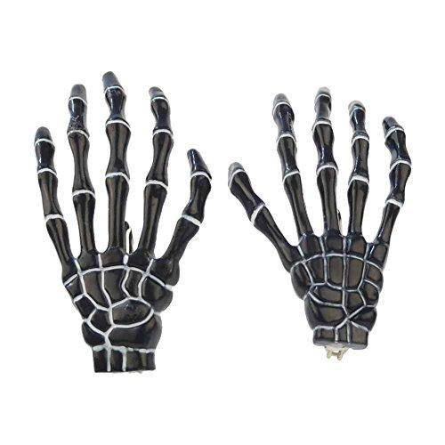 Dark World Skelett Hand Haarspange Officially Licensed Merchandise Haarklammer Halloween Fasching Mottoparty Frankenstein Cosplay Hand Glow (84132-001-0000)