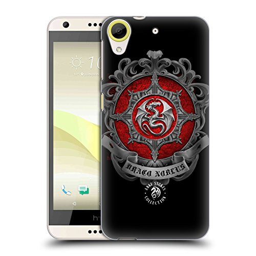 Official Anne Stokes Dragon Crest Fire Tribal Hard Back Case for HTC Desire 650