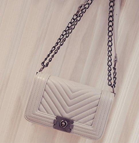 Meili Handbags V-letter Piccola Tracolla Profumata Tracolla Tracolla Tromba Grigia