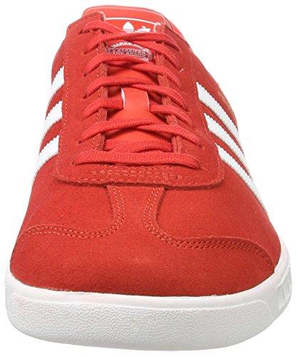 adidas Hamburg, Scarpe da Ginnastica Basse Unisex – Adulto Rosso (Red)