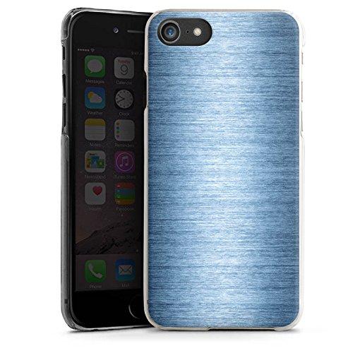 Apple iPhone X Silikon Hülle Case Schutzhülle Metall Look Metal Look - Indigo Hard Case transparent