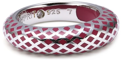 Esprit Jewels Damen-Ring Lattice red 925 Sterlingsilber 18 S.ESRG91919B180 (Die Silver Dragon Ringe)