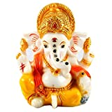 Aica Gifts Lord Ganesha Ganesh Ganpati Car Dashboard Idol Hindu Figurine Showpiece