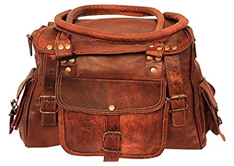Imperial Leather Shoulder Cabin Bag Travel Camera Messenger (Brown Leather Messenger Bag)