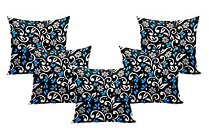 MUKESH HANDICRAFTS Velvet Decorative Throw Pillow/ Cushion Covers Set Of 5 - Size - (24 x 24 Inches)