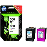 HP 300 2-pack Black/Tri-color Original Ink Cartridges (CN637EE)