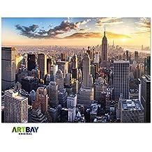 New York Poster HD XXL - 118,8 x 84 cm - Manhattan, New York, Stati Uniti d'America   Decorazione della parete ad alta risoluzione di ARTBAY